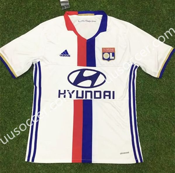 2016/17  Lille OSC Home White  Thailand Soccer Jersey AAA