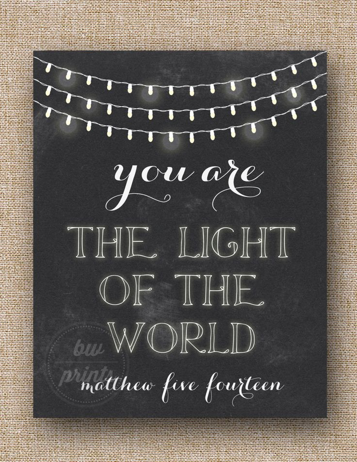 Matthew 5:14 #Chalkboard #Faith #Scripture