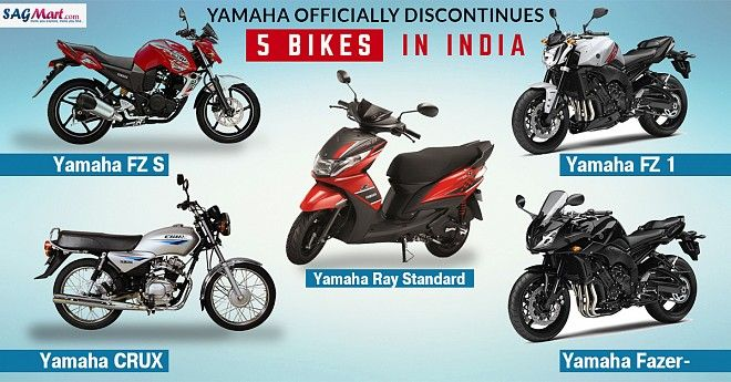 Yamaha Eliminates 5 Bikes from its Official Website