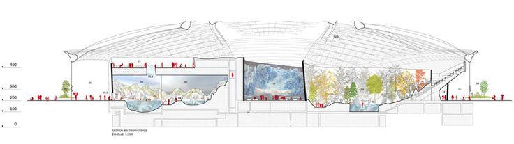 La Migration du Biodôme par AZPML, KANVA architecture et NEUF architect(e)s, Montréal, Québec. Image par AZPML, KANVA architecture et NEUF architect(e)s, fournie par la Ville de Montréal.