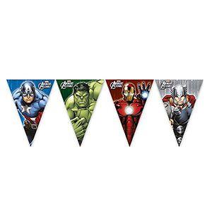 Avengers & Yenilmezler Bayrak Flama Süs, doğum günü parti malzemeleri ucuz