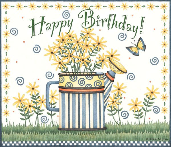 Debbie Mumm ~ Happy Birthday Greeting