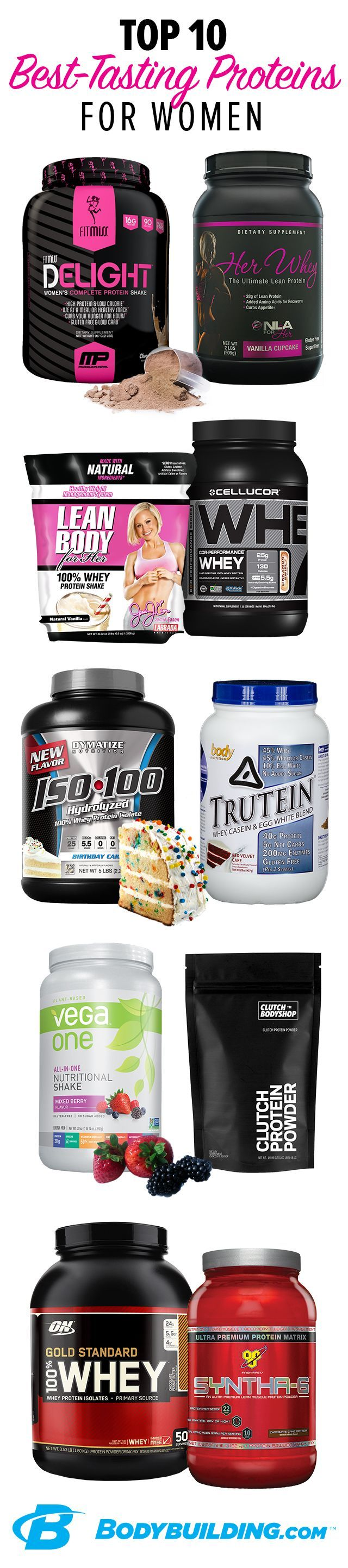10 best tasting protein powders for women