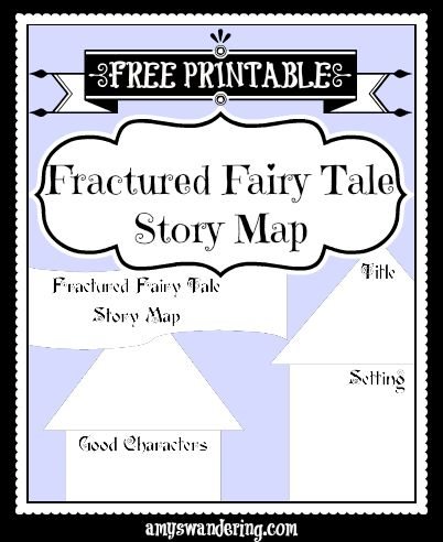 Fractured Fairy Tales w/ free printable story map @ Are We There Yet? (Poppins Book Nook #6)