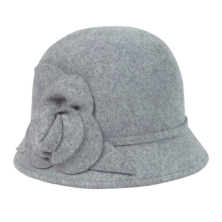 Nine West Women's Felt Rosette Wool Cloche Hat