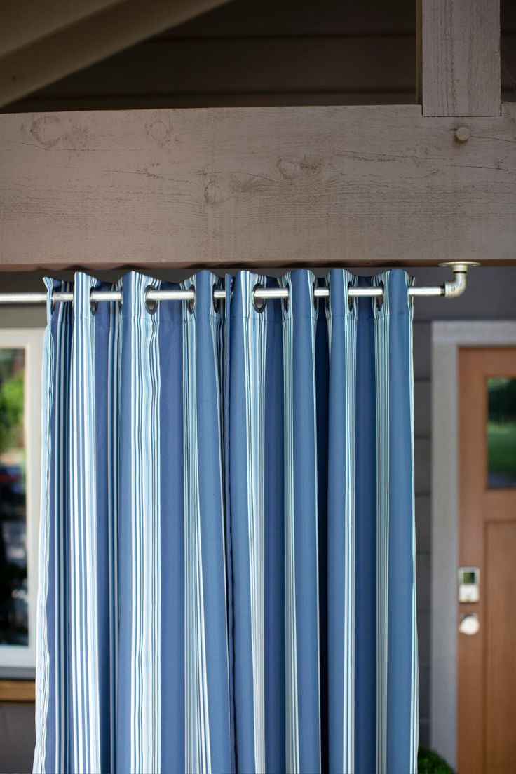 Outdoor curtain rod ideas - Front Yard Pictures From Hgtv Urban Oasis 2015 Porch Curtainsoutdoor