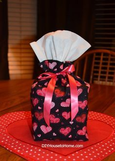"tissue box cover sewing tutorial Cut fabric 17h X 19w, fold under top 3 1/2"", 30"" ribbon"