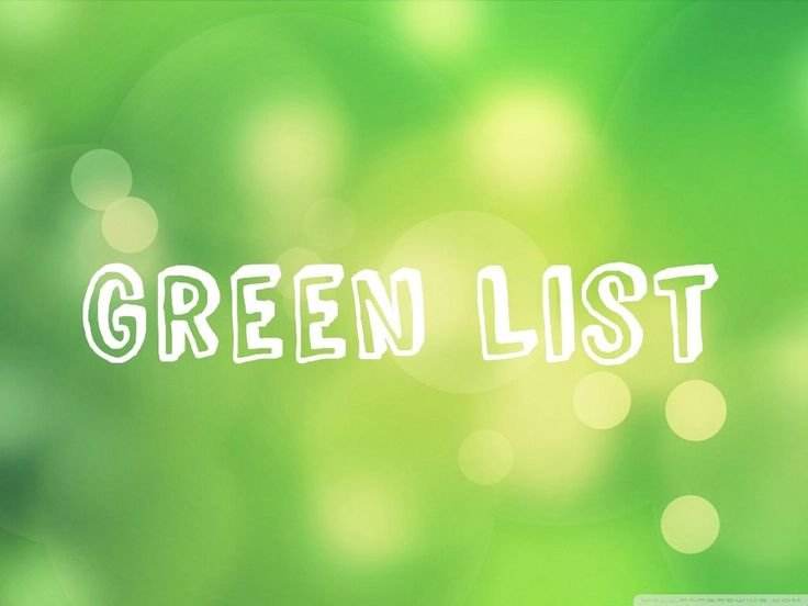 GreenList This is your low carb banting green list. Eating only fromthis list will insure you don't go over your dailyCarbs and that you will get into your fat burning stake faster. This is the list you want to stick to if you want to lose weight, so if you're a beginner then ...