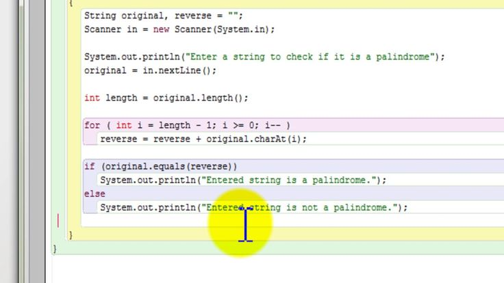 Java program to check if a string is a palindrome or not