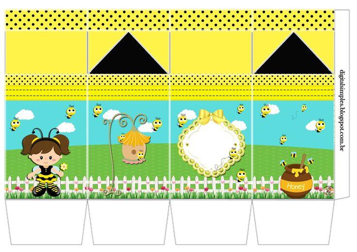 "Kit Personalizados Tema ""Abelhinhas ou Jardim das Abelhinhas"" - Convites Digitais Simples"