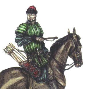 Siberian Khanate light cavalryman, 16th century