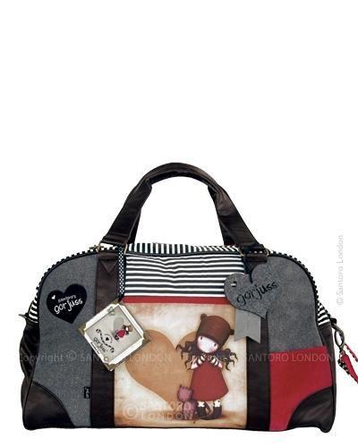 Gorjuss Weekender Bag, £85.00, Gorjuss Gifts, Gorjuss Cards & Gifts, Cards, Scruffy Little Cat
