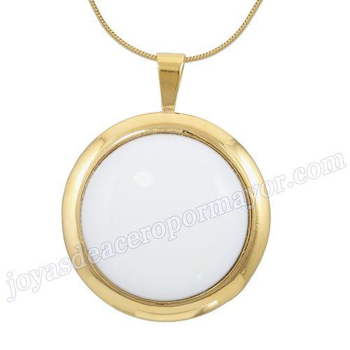 Material:Acero Inoxidable     Nombre: Elegante joyas de colgantes acero para dama al por mayor     Talla: 36*46mm     Weight: 19.5g