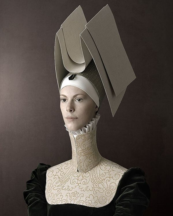 """These Renaissance nine portraits are parts of photo project called """"1503″ created by by Swiss/Italian photographer Christian Tagliavini.  All characters are portrayed in striking handcrafted clothes made by Tagliavini himself."""