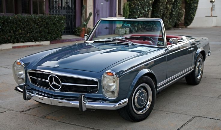 This is a stunning1966 Mercedes 230SL in an unusual but beautiful color combination. See it at Goodman Reed in California. They really know how to photograph cars.