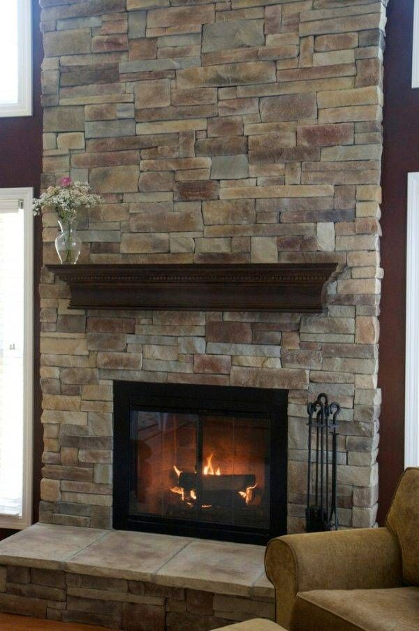 Floor To Ceiling Brick Fireplace