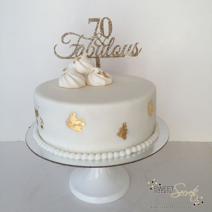 Glits and Glam, 70th Birthday Cake with fondant champagne bottle and edible gold…