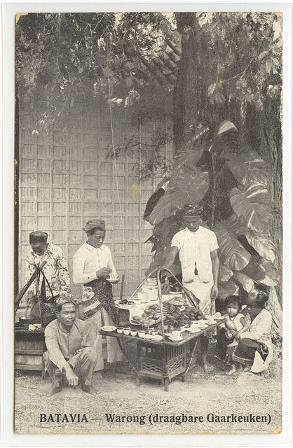 Warong Batavia 1915 | Old postcard from the old Dutch East I… | Flickr