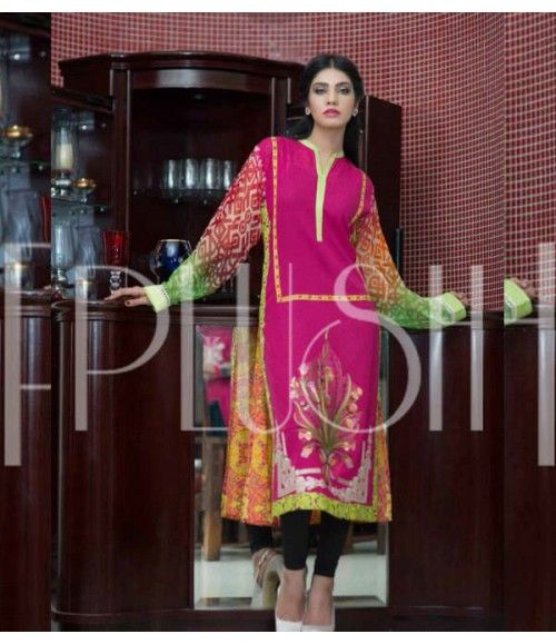Plush Embroidered Kurti Collection 2015 Vol-1 by Riaz Arts EK-06