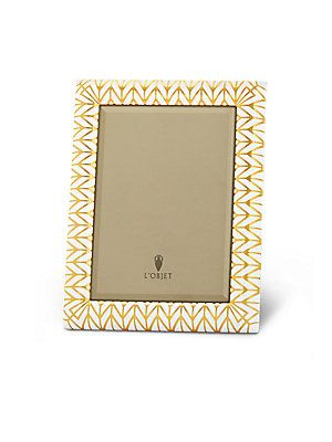 L'Objet Chevron 24K Gold-Plated Photo Frame