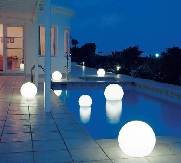 Floating (solar?) lights for swimming pools as seen at http://www.outdoorlightinglamps.com/floating-pool-light