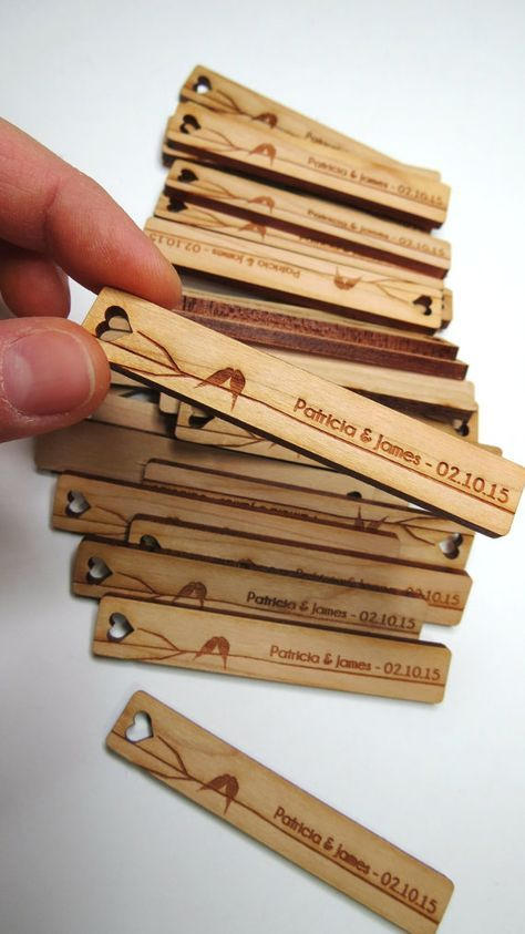 50 .5 x 3 Custom Wood Tags Gift Tags Wedding Tags by GrainDEEP