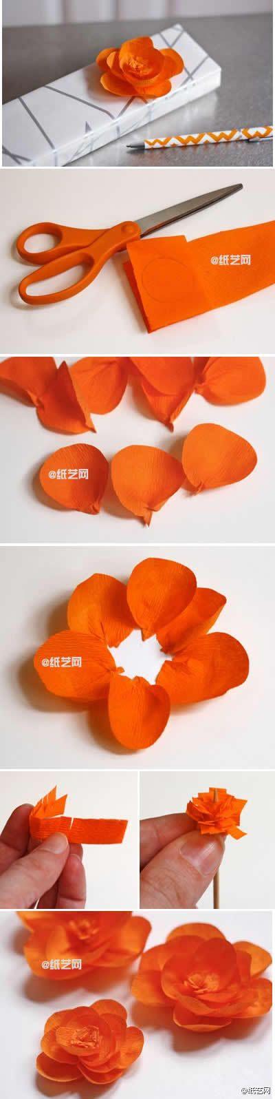 crepe paper flowers: Diy Flowers, Gift, Paperflowers, Paper, Paper Flowers, Diy Craft, Pretty Flower, Craft Ideas, Crafts