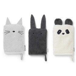 Set de 3 gants de toilette - Liewood