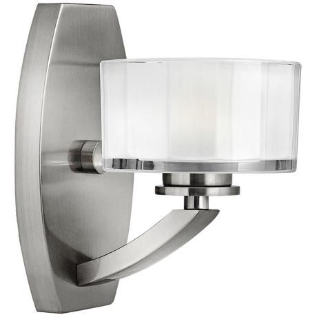 "Hinkley Meridian 8"" High Brushed Nickel Wall Sconce"