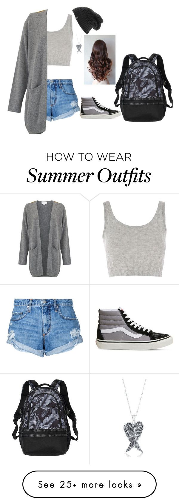 """""""Natalia Ace's Summer Outfit! Update!"""" by nataliaace on Polyvore featuring Nobody Denim, Topshop, Vans, The North Face and La Preciosa"""