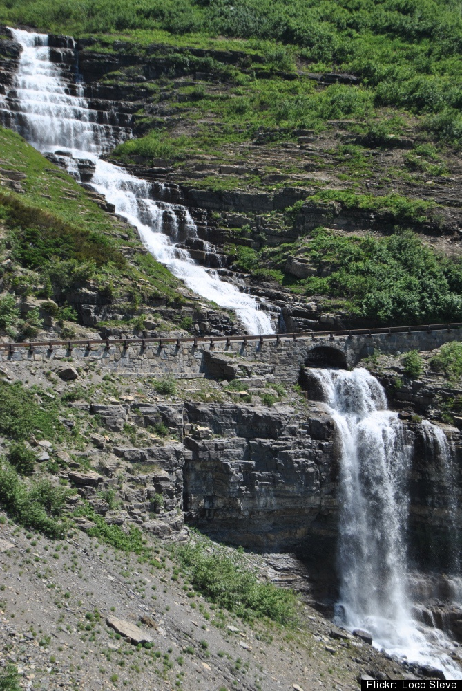 Bird Woman Falls, part of Glacier National Park in Montana,