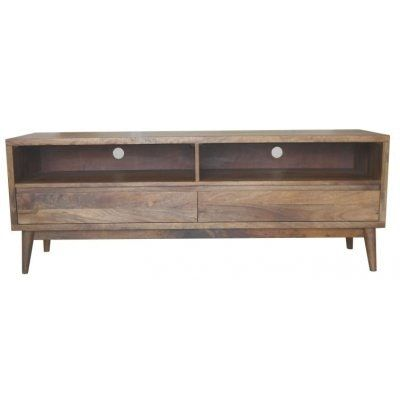 """The """"Retro"""" 2 Drawer TV Entertainment unit is stylish and unique in design with it"""