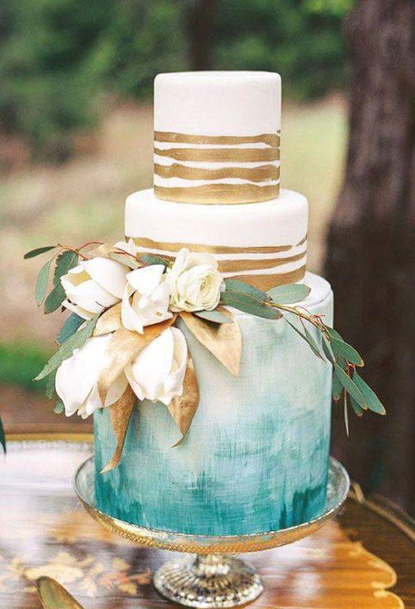 30 Fantastic Ombre Wedding Cakes Watercolor Wedding Cake