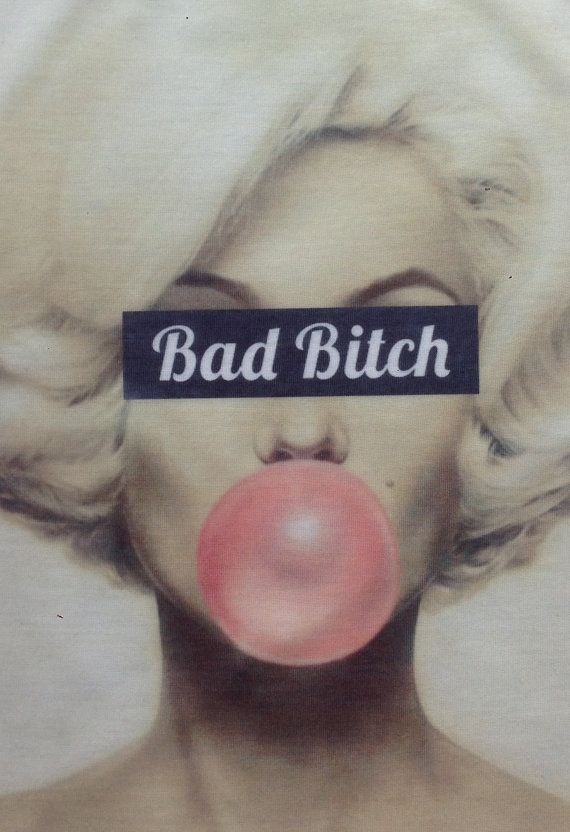 marilyn monroe bad bitch mature tshit UNISEX loose by fashionhacks, £9.99