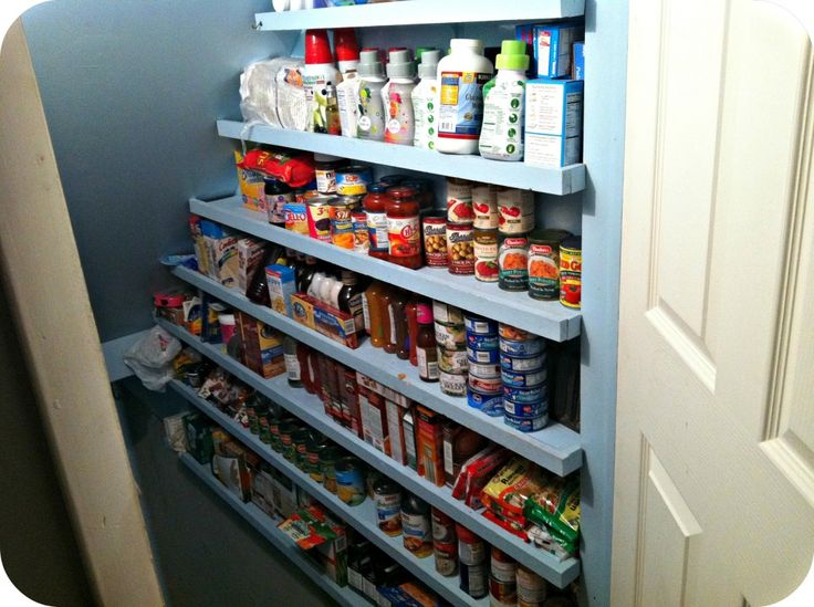 #FoodStorage   These Shelves Are Very Easy To Make. Storage ShelvingCloset StorageFood  StoragePantry ...