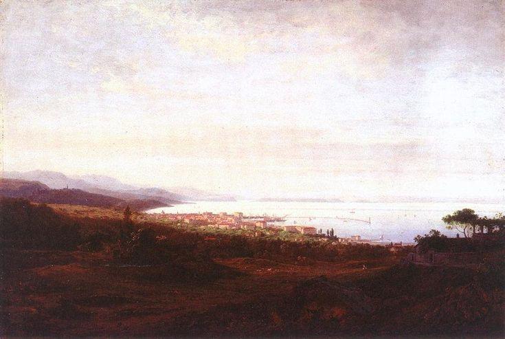 Vue de Fiume de Antal Ligeti (1823-1890, Romania)