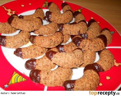 Čokoládovo oříškové rohlíčky