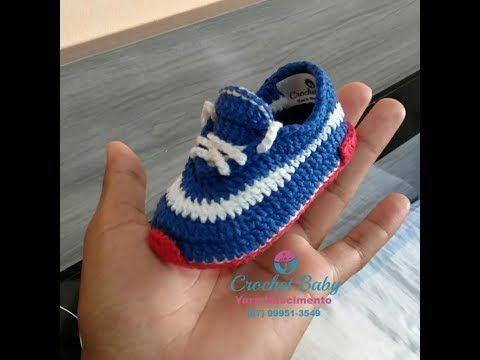 Explicação Sapatinho ICARO de crochê - Tamanho 10 cm - Crochet Baby Yara Nascimento - YouTube