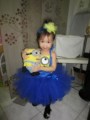 This Halloween my daughter went as a Minion Princess! My first home made costume for her :)