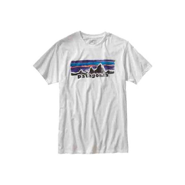 Men's Patagonia Patagonia Legacy Label Cotton/Poly T-Shirt -... ($29) ❤ liked on Polyvore featuring men's fashion, men's clothing, men's shirts, men's t-shirts, white, mens white shirt, mens white t shirts, mens t shirts, mens cotton t shirts and patagonia mens shirts