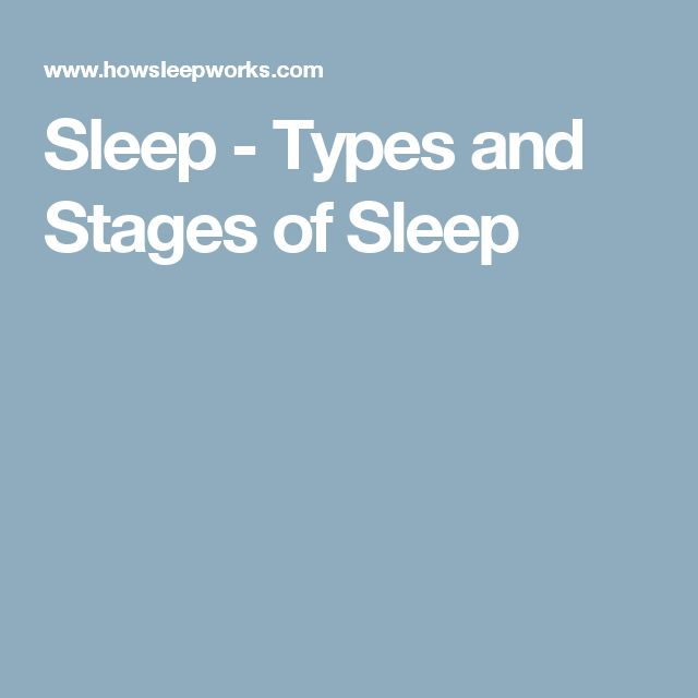 Sleep - Types and Stages of Sleep