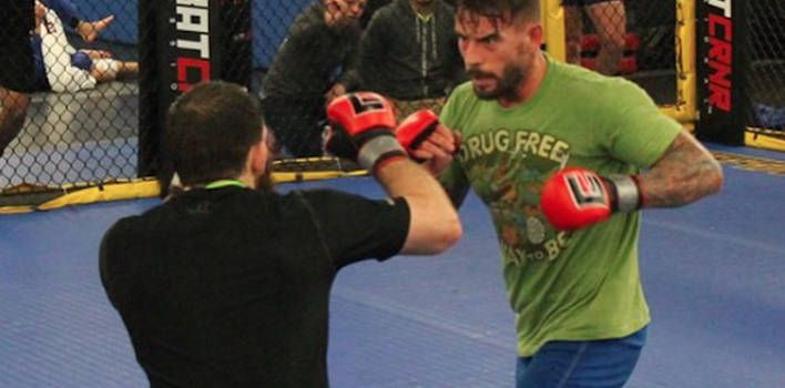 First look into CM Punk's training for the UFC.