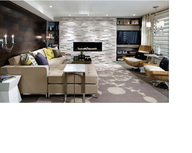 Saw That Design Tonight On Fine Living Candice Olsen Love The Tiled Fireplace She Used Wood Flooring Wall Clever