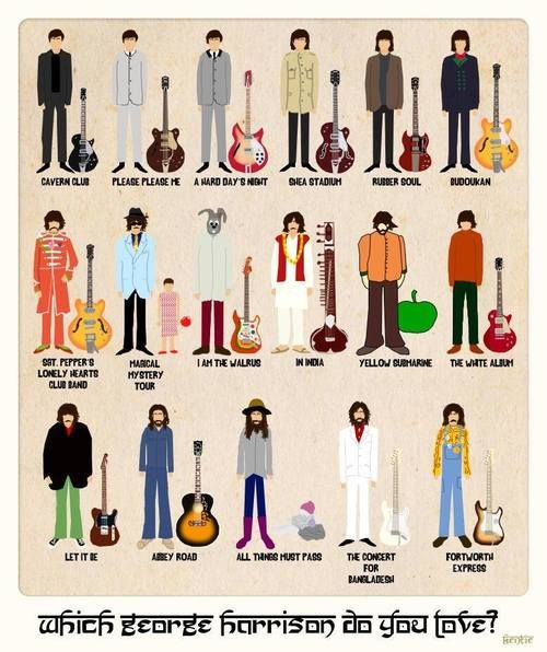 Which George Harrison do you love?           Concert for Bangladesh. Obvi.