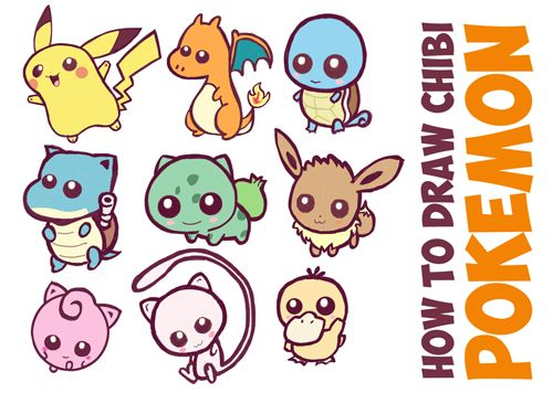 Here is a huge guide to draw cute, baby, chibi pokemon characters. These are all so cute and baby-ish, you will love them.