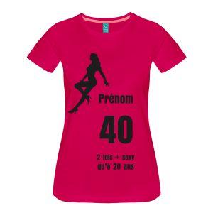 40 : 2 fois plus sexy qu'à 20 ans - T-shirt Premium Femme