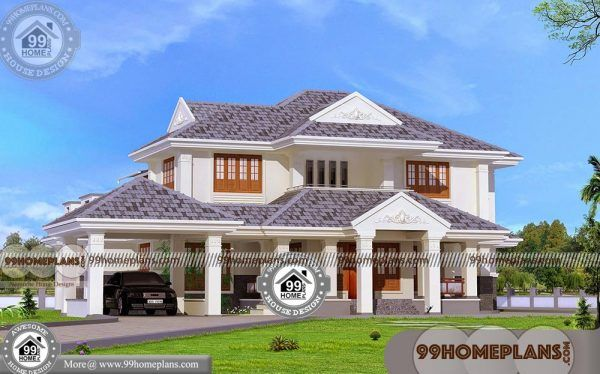 4 Bed House Plans Indian Model With 3d Elevations Affordable Collection Kerala House Design Traditional House Plans House Plans With Pictures Traditional house plan and elevation