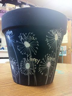 ChumleyScobey Art Room: Kindergarten Flower Pots - Auction Project