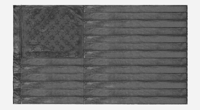 Кожаный черный флаг США от Stampd