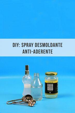 Faça você mesmo um spray desmoldante anti-aderente para forma de bolo :-) // palavras-chave: receita, truque, dica, cozinha, comida, alimentação, óleo de coco, água, diy, faça você mesmo // trick, kitchen